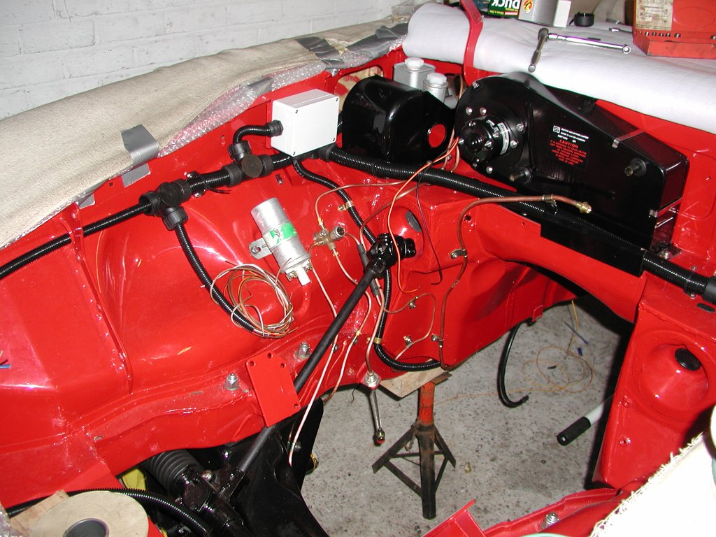 Mg Rebuild A New Wiring Harness Car Wire For Cars Here The Junction Box Is Fitted Rear Loom In Place And Engine Branch Ready Final Connections To Be Added I Didnt Fit These Until