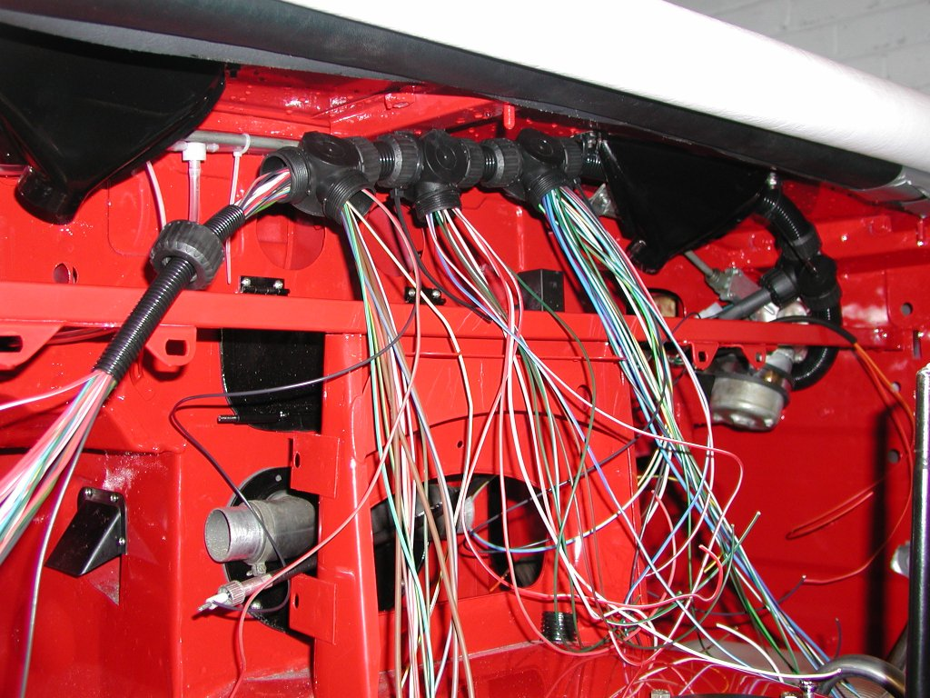 Mg Rebuild A New Wiring Harness Wire Repair Tubing 28mm With Big T Pieces Each Of The 4 Outlets Are By Function From Right Steering Column Stalk Instrument Binnacle Flasher Wipers
