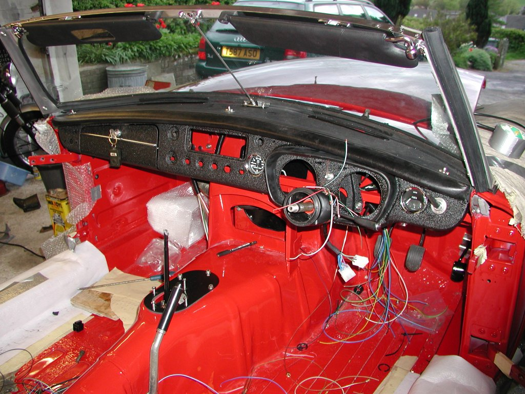 mg rebuild a new wiring harness rh zen269556 zen co uk mgb wiring loom fitting mgb roadster wiring loom